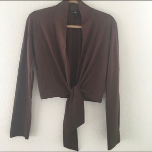 Bogner cover up; chocolate color; soft cotton